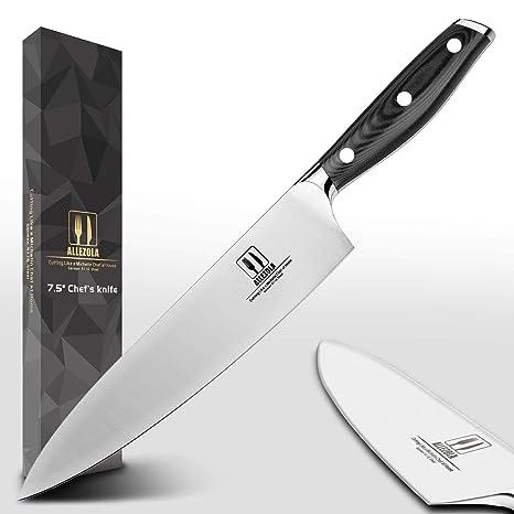 Amazon.com: allezola profesional Cuchillo de chef, 7.5 inch ...