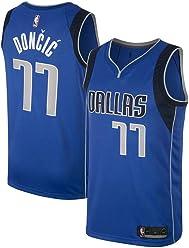 94153d7b708f Majestic Athletic Men s Dallas Mavericks  77 Luka Doncic Royal Swingman  Jersey-Blue (M