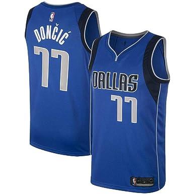 256ee8e9b80f Majestic Athletic Men s Dallas Mavericks  77 Luka Doncic Royal Swingman  Jersey-Blue (S