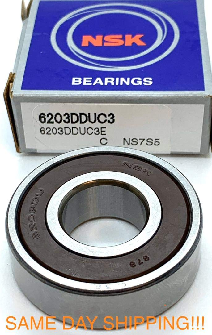 6203 17x40x12mm 2RS Rubber Sealed NKE Radial Deep Groove Ball Bearing