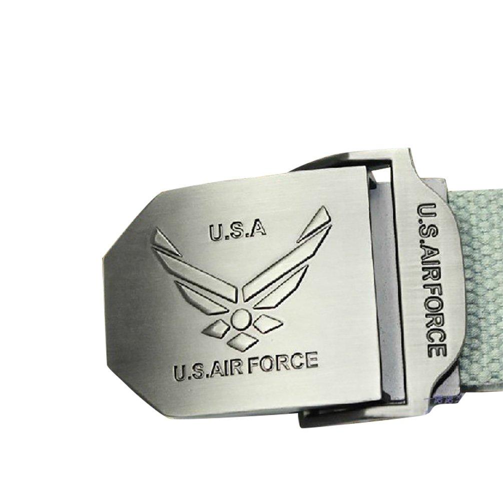 NiSeng Tempo Libero Cintura Da Uomo Stile Militare Regolabile Con Slider Buckle