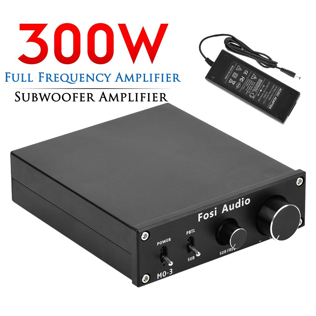 Subwoofer Amplifier 300 Watt Mini Mono Audio Amp Full-Frequency and Sub Bass Switchable Amplifier One Channel Home Theater Single Power Subwoofer Amp Fosi Audio M03 by Fosi Audio