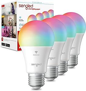 "Sengled Smart Light Bulbs, Color Changing Light Bulb, Smart Bulbs that Work with Alexa & Google Assistant, A19 RGB Multicolor Alexa Light Bulb No Hub Required, 60W Equivalent 800LM High CRI>90, 4 Pack"" /></a></div> <div class="