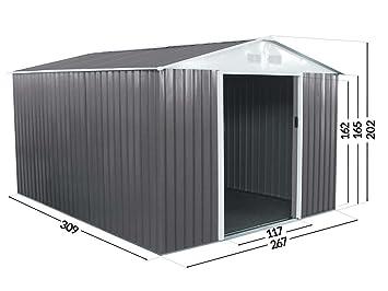 Caseta metálica Dallas 8,84 m²