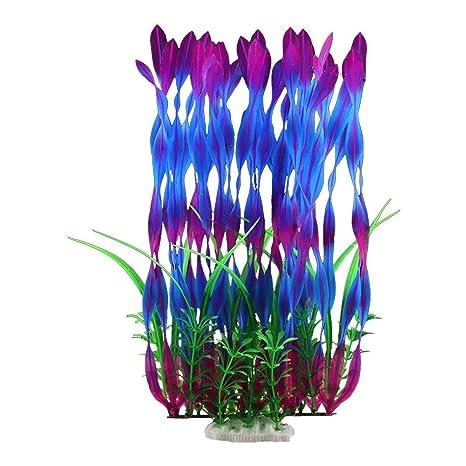 gaeruite - Plantas Artificiales acuáticas de 36 cm de Altura, Plantas de Acuario, decoración