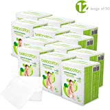 Bellacotton Baby Large Dry Cotton Square Pads 3.5\ x 4\, White, 600 Count (12 Packs of 50)