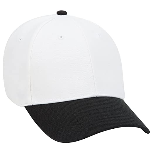 7bf3fc643 OTTO Wool Blend Twill 6 Panel Low Profile Baseball Cap - Blk/Wht at ...