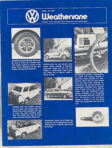 Beetle Magazine (April 15 1974 Volkswagen Weathervane Magazine Brochure Beetle Thing)