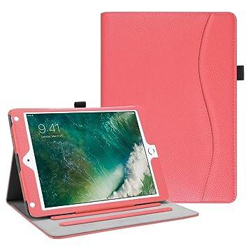 Fintie Funda para iPad 9.7 2018/2017, iPad Air 2, iPad Air - [Protección de Esquina] [Multiángulo] Folio Carcasa con Bolsillo Función de Soporte y ...