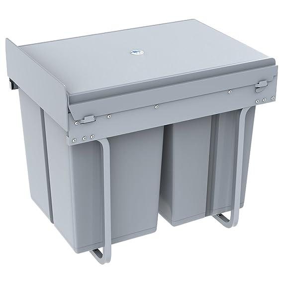 1home Basura del Aparador de la Cocina de Reciclar la Extracción (40 litros): Amazon.es: Hogar