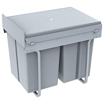 1home Recycling Mülltrennsysteme Swing Abfalleimer Treteimer ab 300 mm  Schrankbreite Mülleimer Abfallsammler Trennsystem 40 Liter Tretfunktion ...