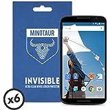 Google Nexus 6 (2014) Screen Protector Pack, Super Clear by Minotaur (6 Screen Protectors)