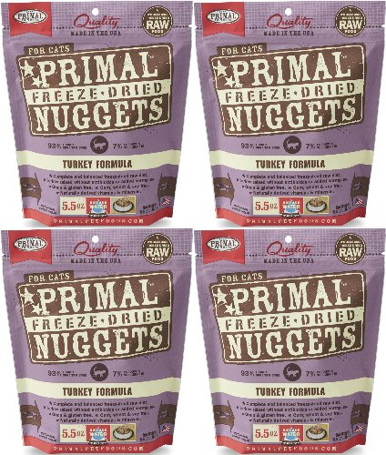 Primal Freeze-Dried Nuggets Turkey Formula for Cats 22oz (4 x 5.5oz) by Primal (Image #1)