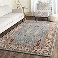 Safavieh Heritage Collection HG735A Handcrafted Traditional Oriental Blue and Ivory Wool Area Rug (3 x 5)