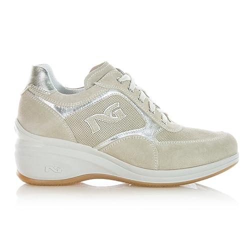 Nero Giardini P615071D 410 Scarpe Donna Sneaker con Zeppa c9bfcec4413