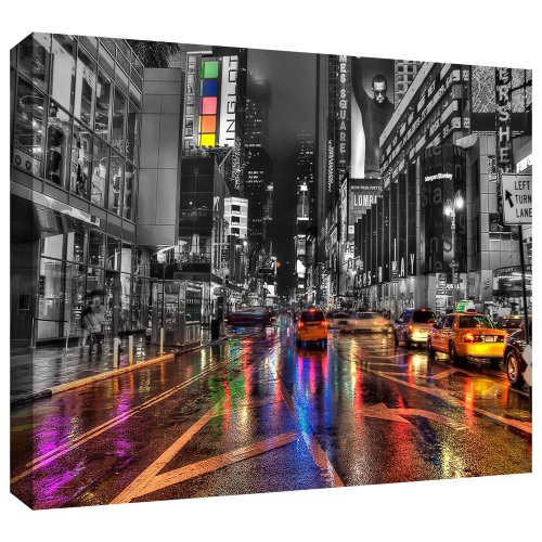 ArtWall Revolver Ocelot 'NYC' Gallery-Wrapped Canvas Artwork, 12 by 18-Inch