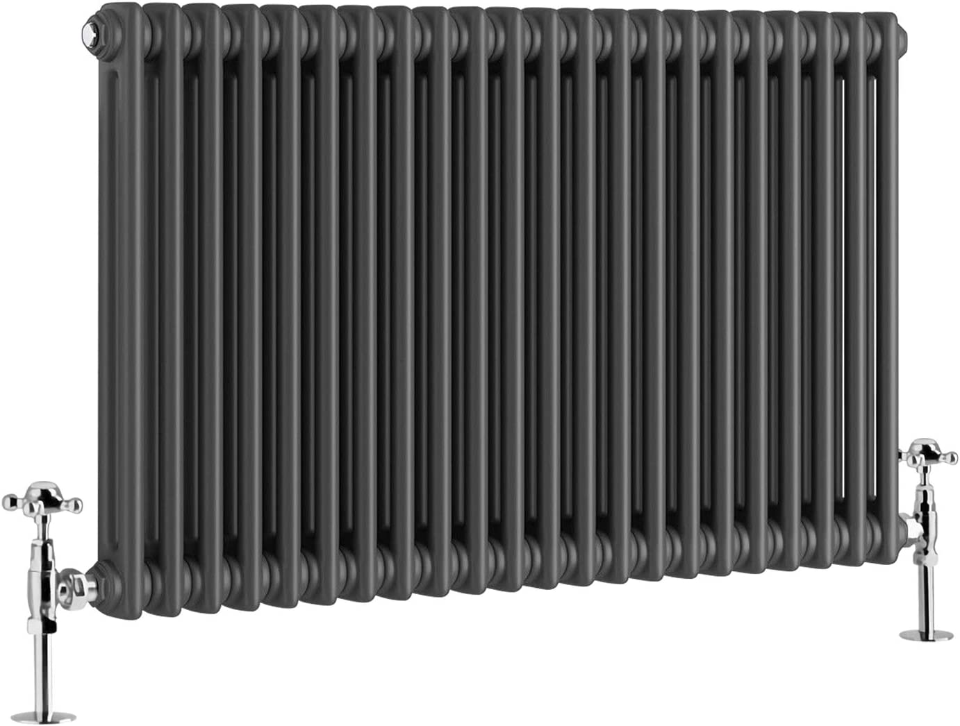 NRG 600x425 Traditional Colosseum Cast Iron Bathroom Radiator Anthracite 3 Panel