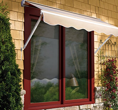 Outsunny Drop Arm Manual Retractable Window Awning 6 Feet