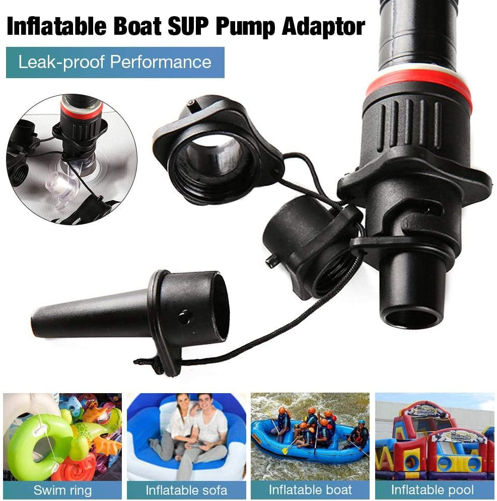 Standard Conventional Air Pump Air Valve Adapter for Paddle Board Floating Row Inflatable Pool mysticall Inflatable Boat SUP Pump Adaptor with 4 Air Nozzle Canoe