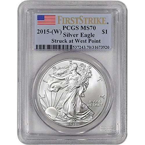 2015 (W) American Silver Eagle $1 MS70 – First Strike PCGS