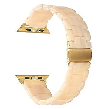 TRUMiRR pour Apple Watch Bande 38mm Femmes, Fashion Bracelet en métal en  Acier Inoxydable Bracelet 11a81599544