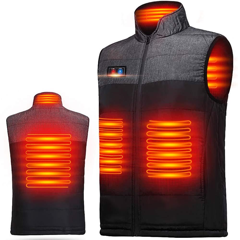 MOSKAU 加熱ベスト ヒートジャケット 加熱服 独立温度設定可能 高·中·低3段温度調整