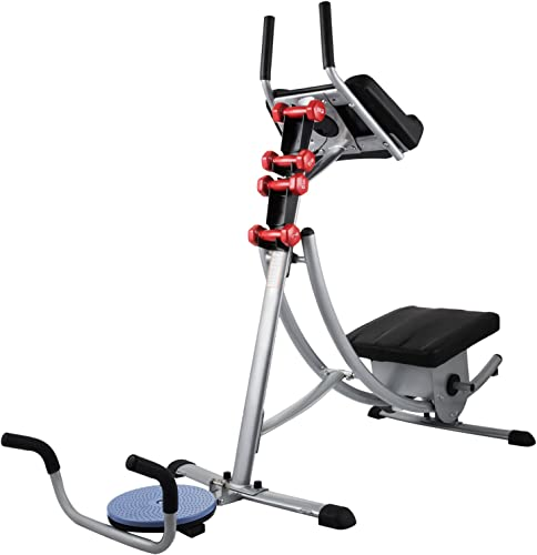 Popsport GSC-02 Series Abdomen Machine 330LBS Abdominal Coaster Abdomen Exercise Equipment with Adjustable Seat for Abdominal Muscle Training