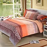 DHWM-Pure Cotton Mill gross 4 piece set, bed consider cotton thick linens and bedding is set 4 piece ,1.5m