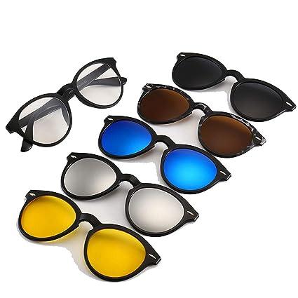 JHHXW Gafas de Sol, se Pueden equipar con miopía Espejo ...