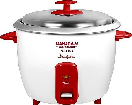 Maharaja Whiteline Inicio Duo 700-Watt Rice Cooker (Red and White) Rice & Pasta Cookers at amazon