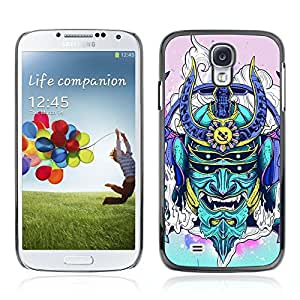A-type Arte & diseño plástico duro Fundas Cover Cubre Hard Case Cover para Samsung Galaxy S4 IV (I9500 / I9505 / I9505G) / SGH-i337 ( Neon japonés Samurai Monster )