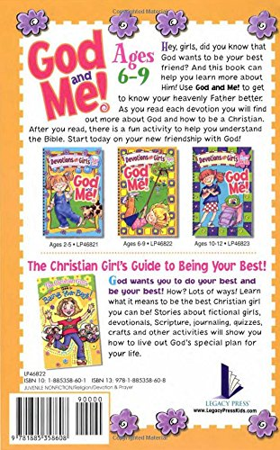 God And Me Devotions For Girls Ages 6 9 Diane Cory Rosekidz 9781885358608 Amazon Com Books
