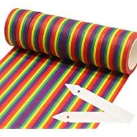 10 Rolls Rainbow Washi Tape 15mm x 10m Masking Tape with 2 Tape Sample Board for DIY Crafts,Scrapbook,Wrapping,Bullet…