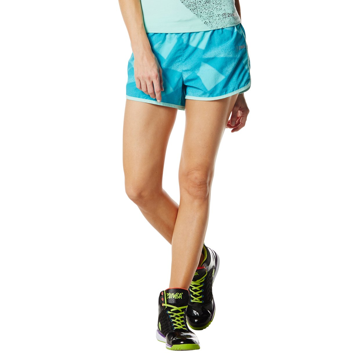 Zumba Fitness, Pantaloncini Print Donna, Blu (Deep Blue Sea), XL Z1B00196 : Z1B00196-XL-DEBS