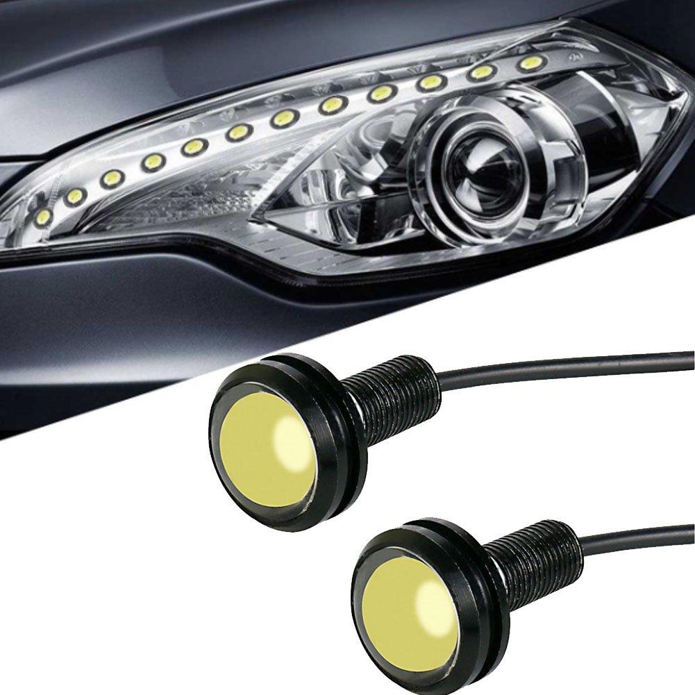 2/8000/K 3/W 12/V 18/mm Bumper DRL f/ür Nebel Licht Motorrad Licht Tagfahrlicht DRL Tail Backup Licht Auto Motor Abstand Marker Lights Auto Eagle Eye LED-Licht