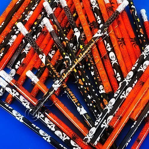 Halloween Holiday Theme Pencils 24 Pack Varied Styles