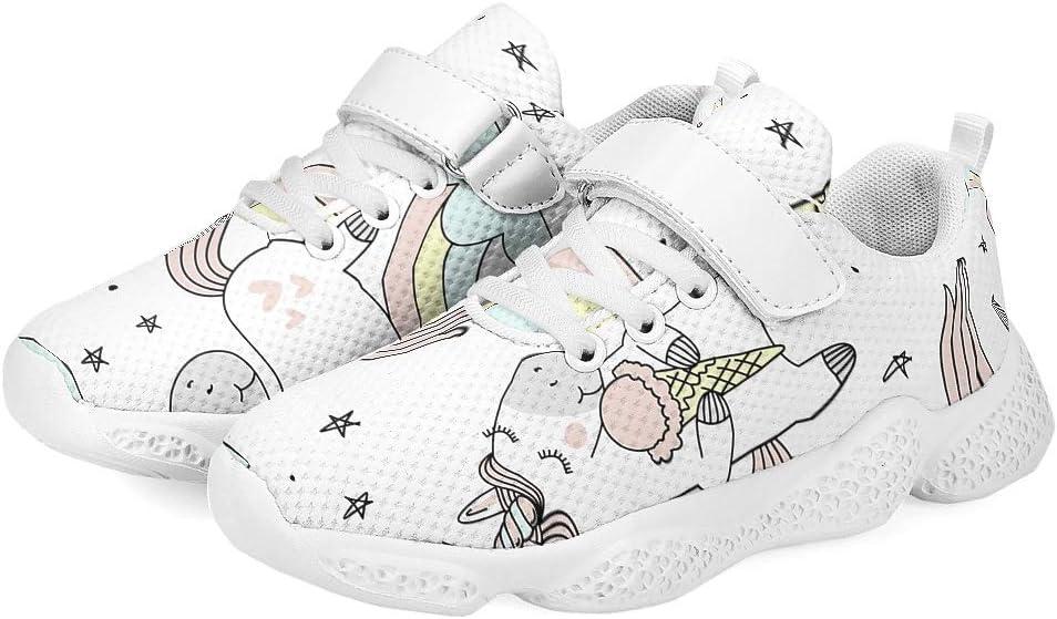dise/ño de unicornio para correr Zapatillas de deporte para beb/é caminar informales para ni/ños atl/ético de malla transpirables YxueSond
