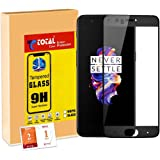 Total care One Plus 5 Tempered Glass | 3D Full Screen Screen Protector Guard | Anti Fingerprint | Perfect Clarity | by TOTAL CARE [Midnight Black]