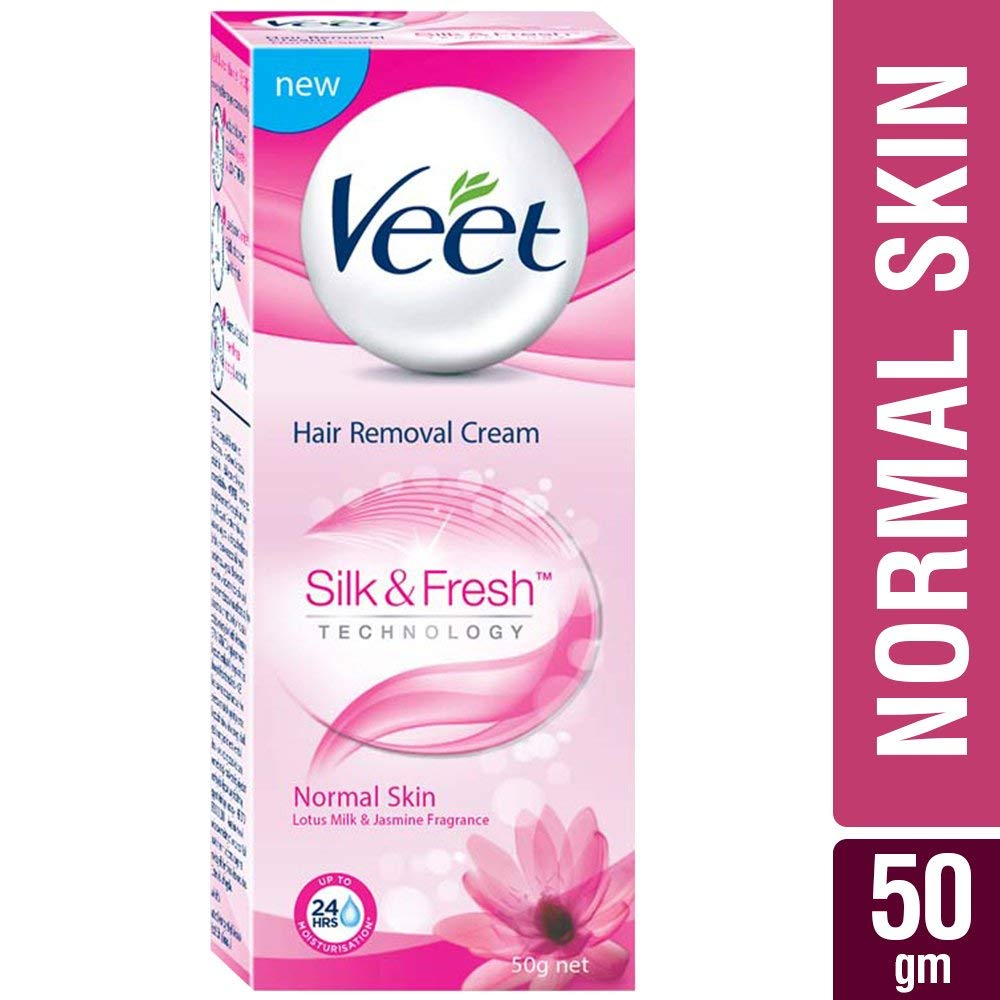 Buy Veet Silk Fresh Hair Removal Cream Normal Skin 50 Gm X 6
