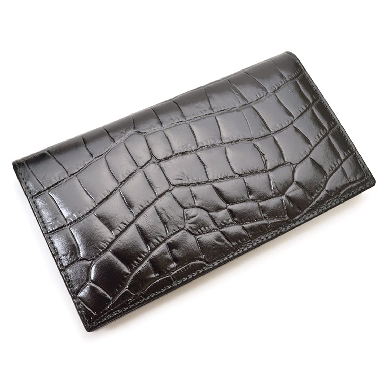 ETTINGER(エッティンガー)Croco/二つ折り長財布/iteg17s029(CC806AJR:ブラック) B0721K4GXT