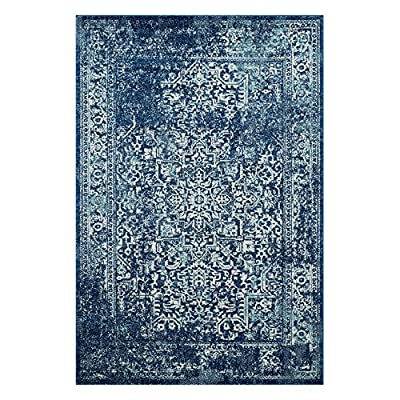 Safavieh Evoke Collection Navy and Ivory Area Rug