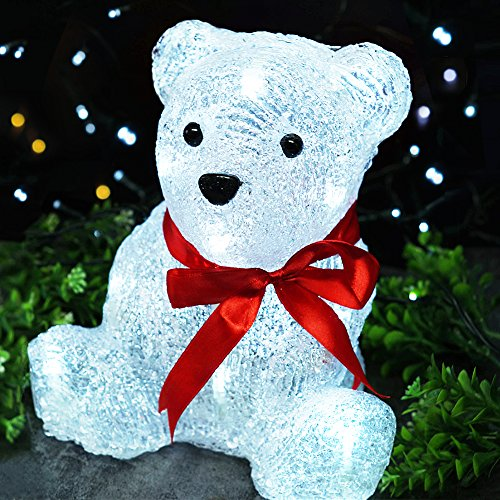 BRIGHT ZEAL LED Acrylic BABY BEAR Sculpture Light with 16...