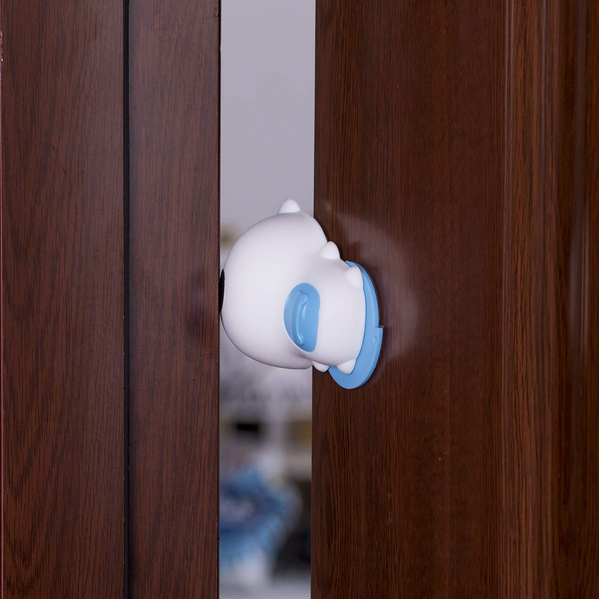 Neotech Care Topes de puerta con forma de perro Azul Goma Pack de 2 del mismo color Rotaci/ón de 180/º