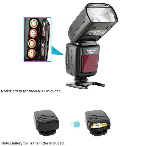 NEEWER WIRELESS FLASH SPEEDLITE PARA CANON NIKON SONY PANASONIC -  Olympus Fujifilm y otras cámaras DSLR con zapata estándar, con pantalla LCD, 2.4G