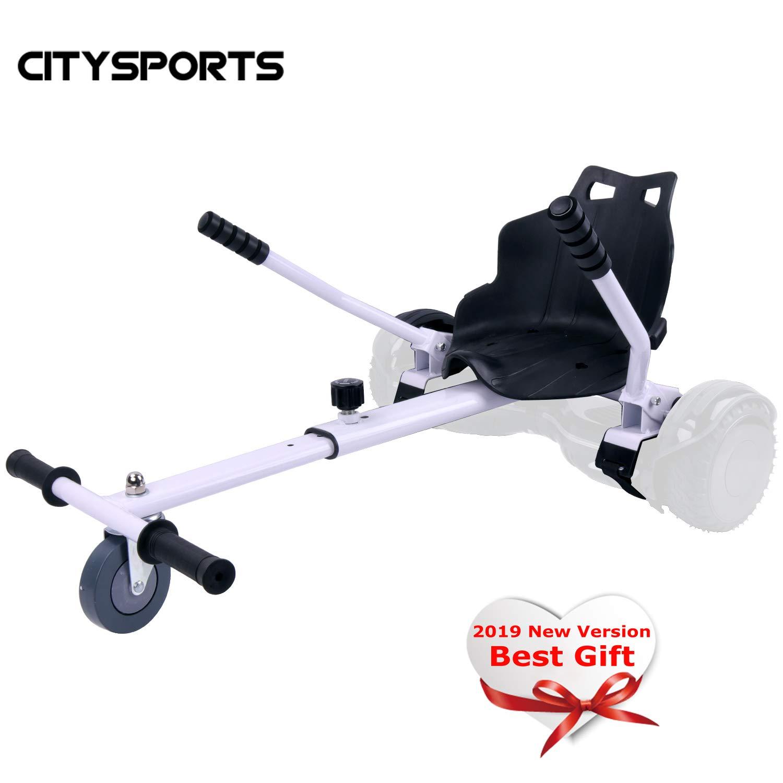 CITYSPORTS Hoverkart con Asiento, Hoverkart Universal Fijación Ajustable, Compatible con Balance Board de 6.5