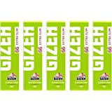 GIZEH(ギゼ) スーパーファイン エクストラスリム 66枚入×5冊パック スローバーニング 7-25002-62