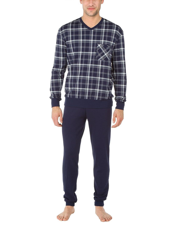 Calida Herren Zweiteiliger Schlafanzug Pyjama Bündchen Camden