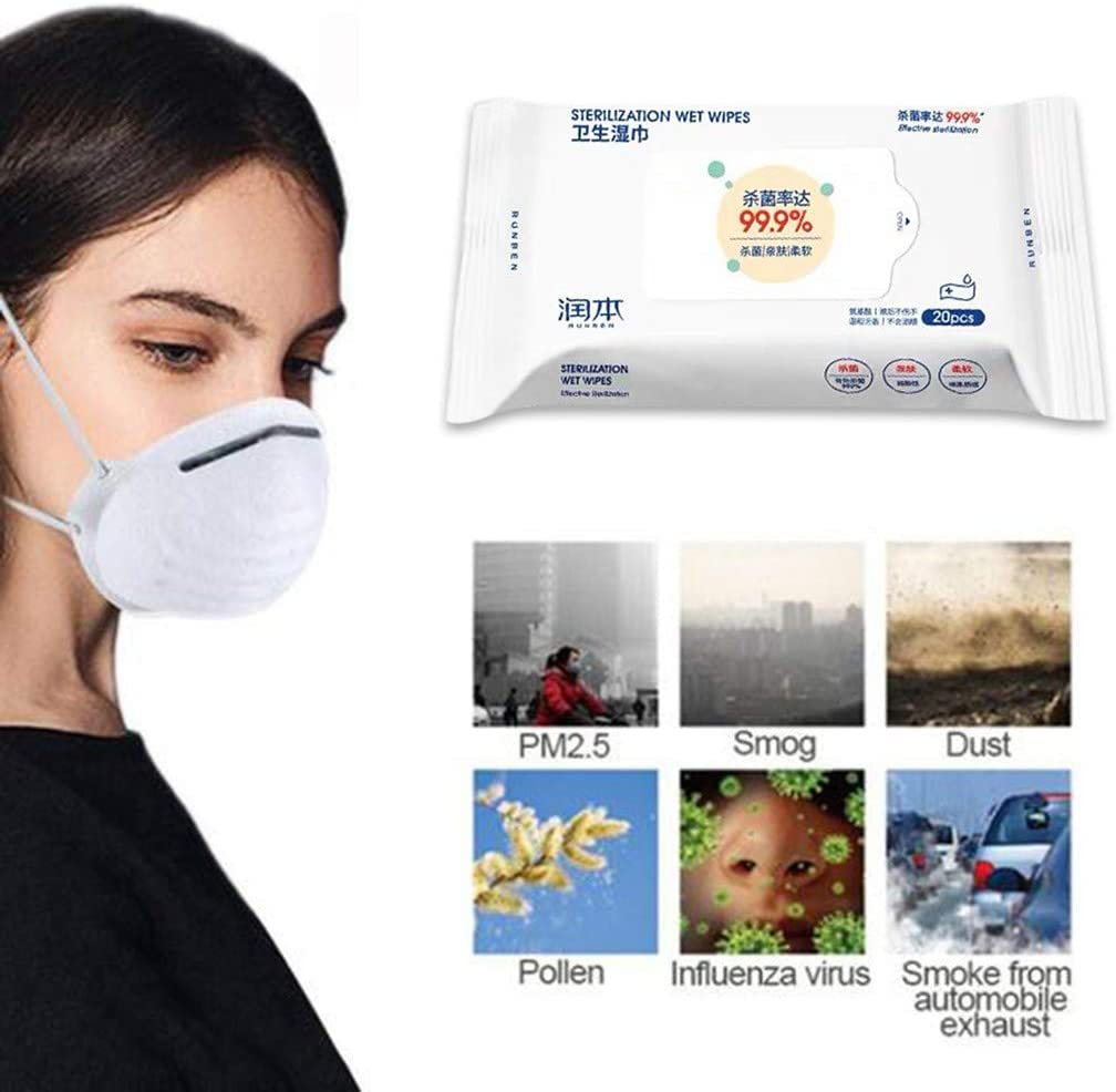 Antibacterial Wet Wipe Tissue Clean Hand Health Care Baby Wipes Wet Tissue Disinfecting Wipes Cleaning Wipes Sanitizing Wipes 0100 Percent Bacteria Free No Nasty Chemicals 20 Wipes//Pack