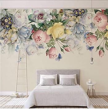Amazoncom Dalxsh 8d Murals Painting 3d Flower Wallpapers