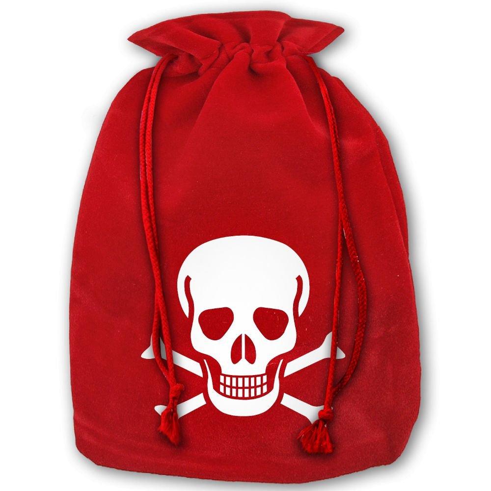 free shipping Skull Crossbones Red Christmas Drawstring Bags   Santa s  Trouser Bag  Christmas Gift b9678c0df0